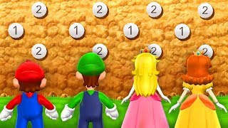 Mario Party 9 - Minigames - Mario vs Daisy vs Peach vs Luigi