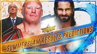 WWE SUMMERSLAM 2019 MATCH CARD RESULTS PREDICTIONS