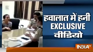 Exclusive video: Police interrogates Ram rahim's adopted daughter Honeypreet after arrest