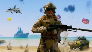 GTA 5 Mods WW3 Biggest Battle Of All Time!