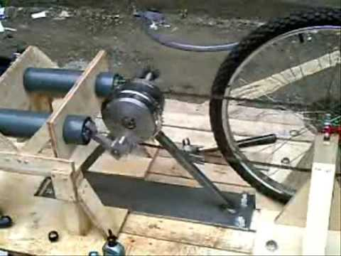 Pedal powered water pump. 2007.