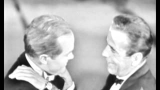 Humphrey Bogart and Bob Hope Cut Up: 1955 Oscars