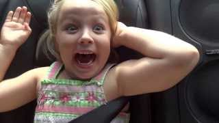 My Friends 5 year old daughter reacts to 2013 Nissan GTR launch control