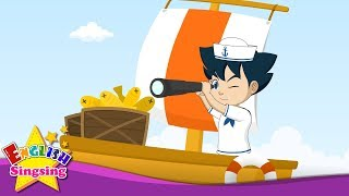 A Sailor Went to Sea - English cartoon - Nursery Rhyme video - English Kids song with lyrics