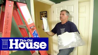How to Repair a Cracked Drywall Ceiling - This Old House