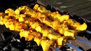 Persian Chicken kabob - Joojeh Kabab (with mayonnaise marinade)