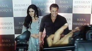 Salman Khan अपने Girlfriend Katrina Kaif के साथ पहुचें Baba Siddiqui Iftaar Party 2018