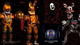 Todos los Animatronicos y Fun With Balloon Boy FNAF 4 Halloween Edition!