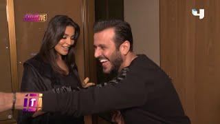 صبحي يفاجئ نادين نجيم قبل حفل إطلاق مجموعة مجوهرات .. ليكشف استعداداتها للحفل