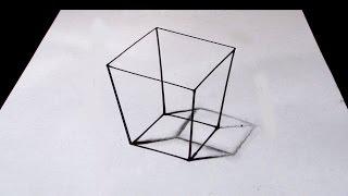 Basit 3D Kare Çizimi - 1 DAKİKADA ÇİZİM!