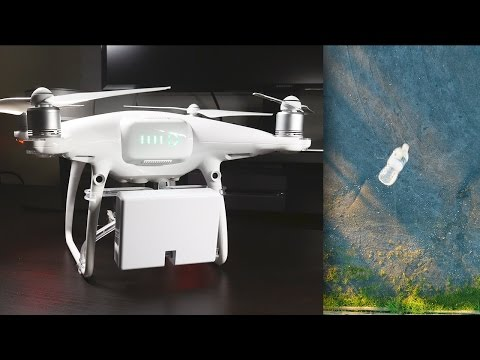DJI Phantom 4 Pro Payload Release System Lift and Drop Test