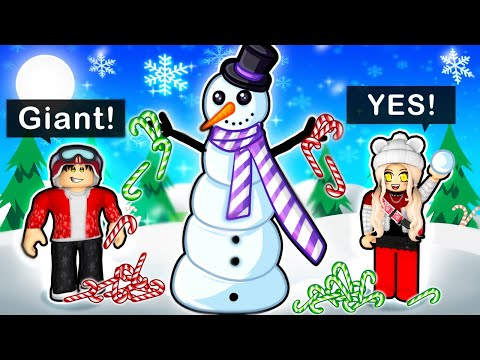 Building the TALLEST SNOWMAN in Roblox