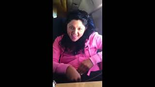 Girl touches herself on a plane