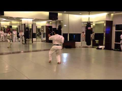 Kyokushin HCMC- brown belt test- KATA YANTSU
