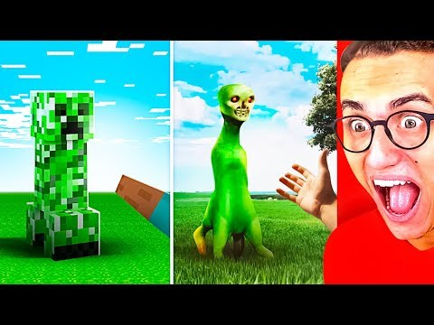Amazing MINECRAFT vs. REAL LIFE CHALLENGE