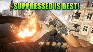 Suppressed Sniper Is The Best! New M1917 Enfield Silenced Review | Battlefield 1