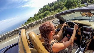 Pretty Russian Girl Drives FAST & LOUD. Porsche Boxster from Monaco Montecarlo to Nice, France