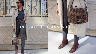 One Pair Of Jeans: 5 Easy, Chic Outfits For Spring | Mott & Bow Review