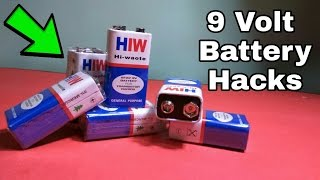 4 Awesome 9 Volt Battery Life Hacks !! |Awesome|2016 Special !!
