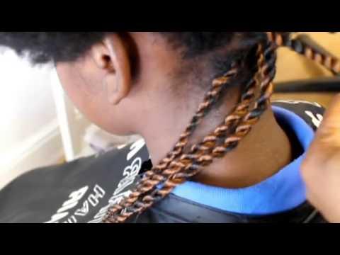 SENEGALESE ROPE TWISTS METHOD ON VIRGIN AFRO HAIR
