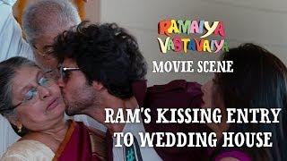 Ram's Kissing Entry to Wedding House - Ramaiya Vastavaiya Scene - Girish Kumar