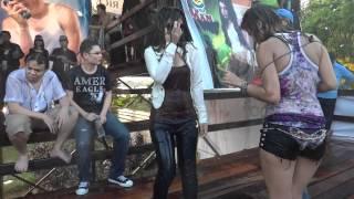Sexy wet girl dancing
