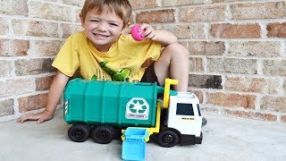 Garbage Truck Videos For Children l Unboxing GIANT Matchbox Recycling Truck l Garbage Trucks Rule