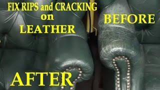 FIX RIPS and CRACKING on a LEATHER CHAIR