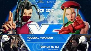 SFV: YOUDEAL Yukadon vs. Devil.R NL - SCR 2017 Grand Final - CPT 2017