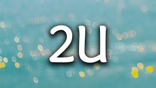 David Guetta, Justin Bieber ‒ 2U (Lyrics / Lyric Video) (R3hab Remix)