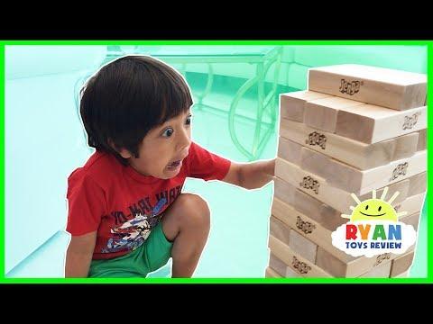 Xxx Mp4 GIANT JENGA CHALLENGE Parent Vs Kid Family Fun Game For Kids 3gp Sex