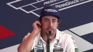Sato, Alonso, Castroneves Carb Day News Conference