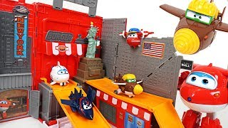 Super Wings Jett! Let's go to New York with mini tranforming friends - DuDuPopTOY