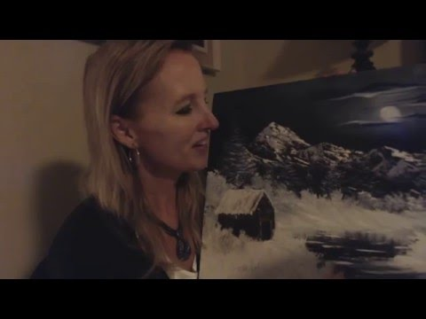 ASMR Southern Accent ~~ Whisper ~~ Show & Tell ~~ Bob Ross Style Painting