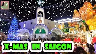 Christmas in Vietnam. Xmas in Saigon. New Year 2017