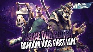 INSANE RANDOM DUO CLUTCH!! (KIDS FIRST WIN)