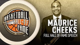 Maurice Cheeks | Hall of Fame Enshrinement Speech