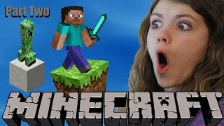Audrey and Dad play Minecraft- Part 2