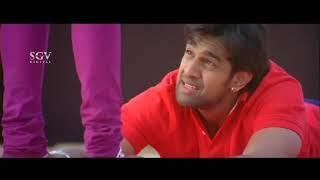 Gandede Kannada Movie | Chiru Sarja hold Ragini leg for Love | Kannada Best Scenes