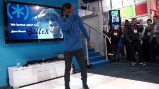 CES 2013 Cyrus 'Glitch' Spencer INCREDIBLE slow-mo dancing to DubStep