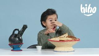 American Kids Try Ethiopian Food | Kids Try | HiHo Kids