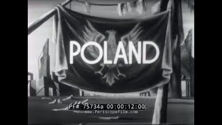 POLAND 1938-1945  WWII DOCUMENTARY & TRAVELOGUE MOVIE   75734a