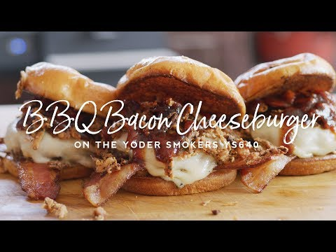 BBQ Bacon Cheeseburger with Onion Strings