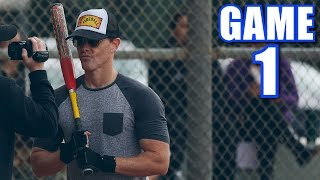 FIREBALL HITS FIVE HOME RUNS ON OPENING DAY! | Offseason Softball League | Game 1