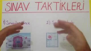 SINAV TAKTİKLERİ - Şenol Hoca
