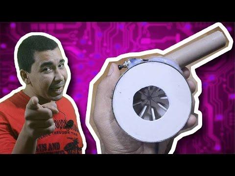 Como fazer um mini soprador de ar potente!
