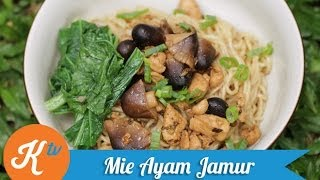 Resep Mie Ayam Jamur (Chicken & Mushroom Noodle Recipe Video) | STANLEY MARCELLIUS