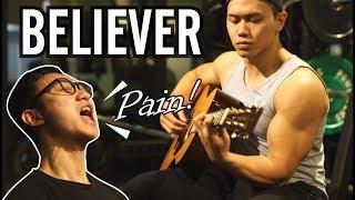 【在健身房飆歌】BELIEVER -Imagine Dragons-GYM STYLE -Guy Cover|健人劇場|2018ep11