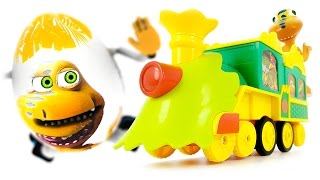 Dinosaur Train VIDEO FOR CHILDREN Chocolate Surprise Eggs with Dinosaurs Toys from Cartoon