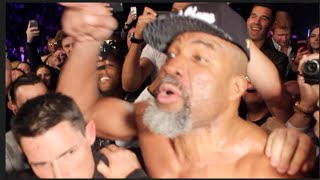 MAYHEM!!! - DAVID HAYE & SHANNON BRIGGS CLASH AT RINGSIDE AFTER FIGHT & ARE SEPARATED BY SECURITY!!!